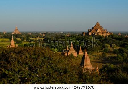 Dhammayangyi Temple at Bagan, Myanmar - stock photo