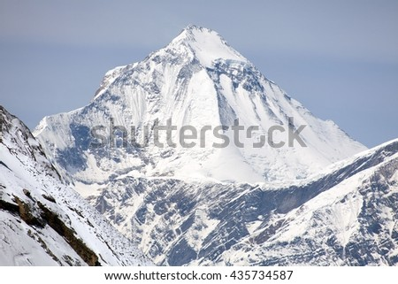 Dhaulagiri, view of mount Dhaulagiri from Thorung La pass, Nepal