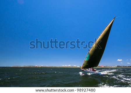 Dhow Sailing, Inhambane, Mozambique - stock photo