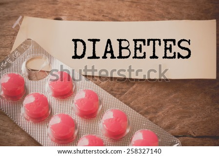 Diabetes and stethoscope. Medicine concept. Blackboard with word diabetes  - stock photo