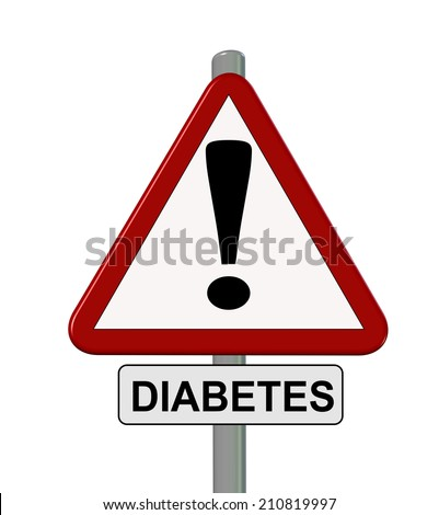 diabetes caution sign