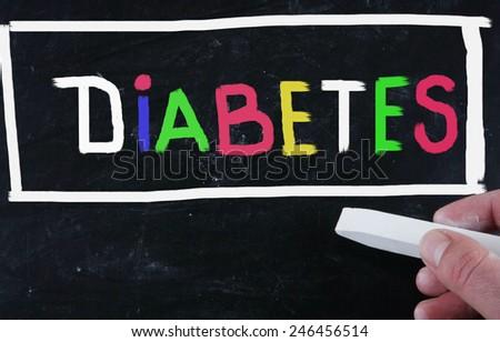 diabetes concept - stock photo