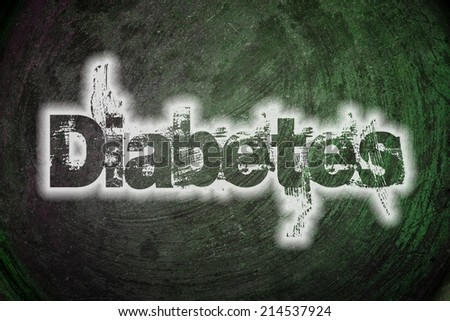 Diabetes Concept text on background - stock photo