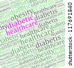 Diabetic health care info-text graphics - stock photo