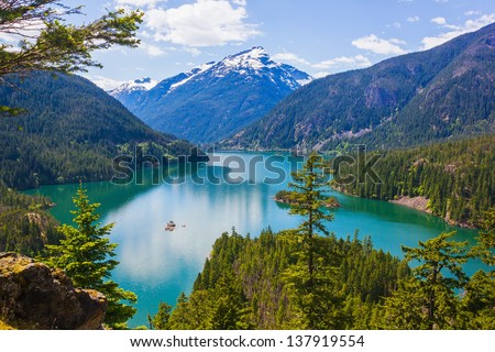 Diablo lake. North Cascades National Park, Washington, USA