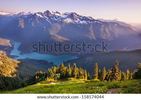 Diablo Lake,Washington - stock photo