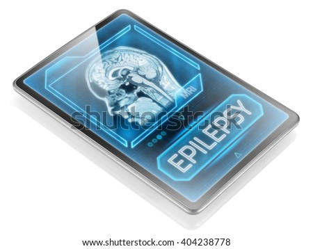 Diagnosis of epilepsy displayed on modern tablet - stock photo