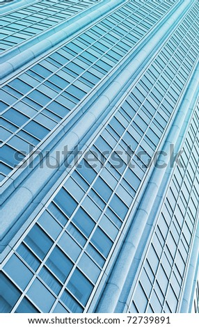 Diagonal abstract background glass windows - stock photo