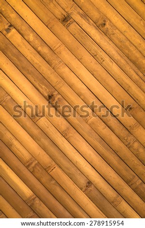 Diagonal bamboo pattern for texture or background - stock photo