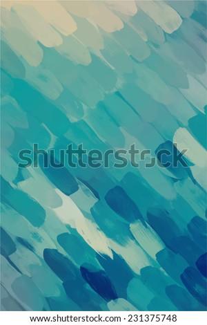Diagonal blue brush stroke paint. Abstract illustration. - stock photo