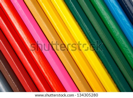 diagonal color pencils background