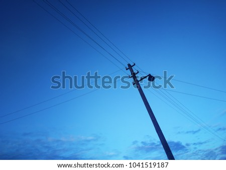 Diagonal power line landscape background