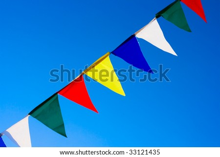 Diagonal Small flags abstract background - stock photo