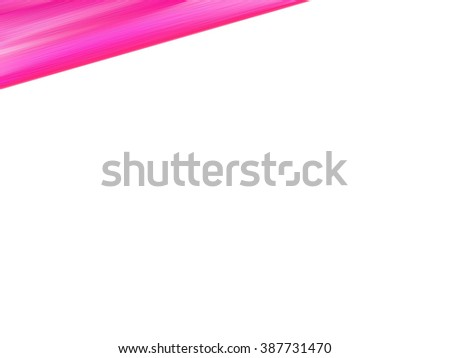 diagonal stripe of thick paint in shades of pink on white background  - stock photo