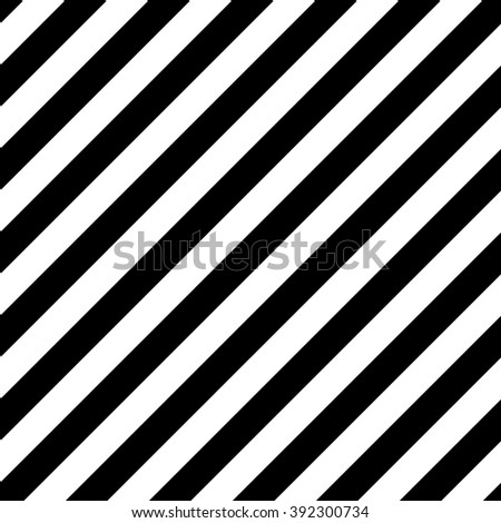Diagonal Striped Seamless Pattern. Black and white background - stock photo