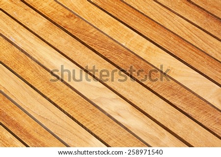 Diagonal wood plank board background - stock photo