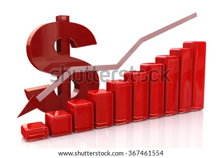 diagram decline dollar at registration information related to the economy and business - stock photo