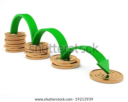 diagram of slope on white background - stock photo