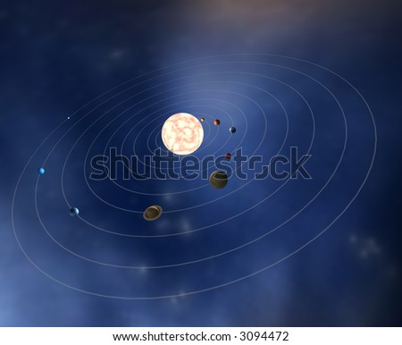 diagram planets solar system stock illustration 3094472 shutterstock solar system diagram with dwarf planets diagram of the planets in the solar system