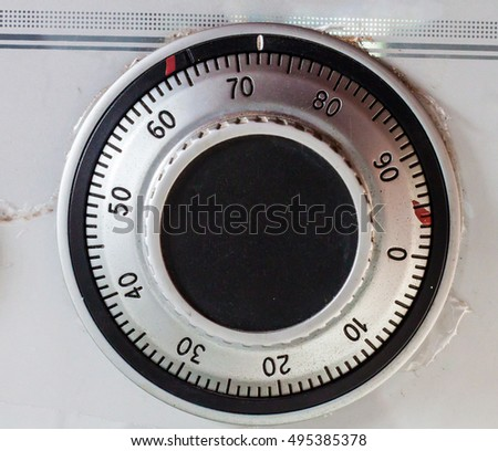 dial combination lock on the safe