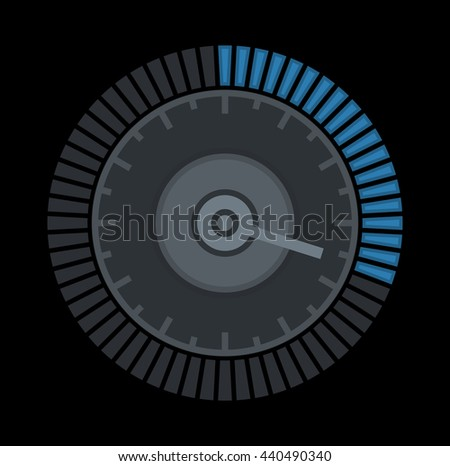 Dial Sign Template with Segmented, Level Indicator. illustration - stock photo