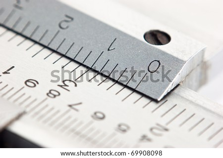 dial vernier calipers macro - stock photo