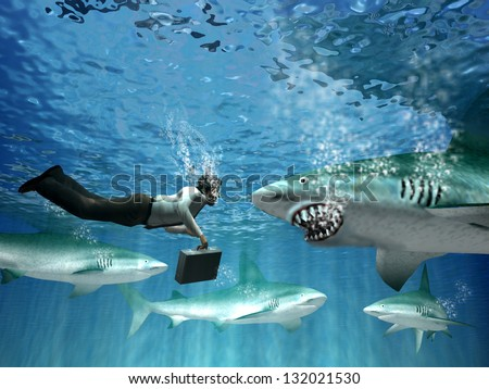 Dialogue with aggressive clients - stock photo