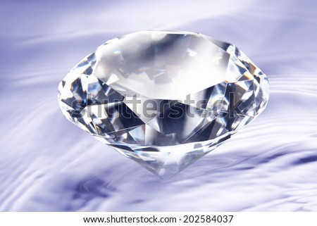 Diamond And The Water Surface