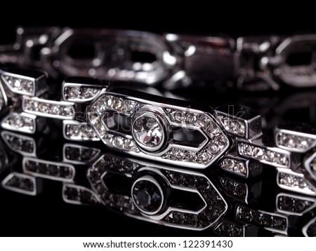 Diamond bracelet - stock photo