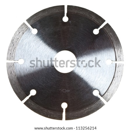 Diamond disc for tile cutting - stock photo