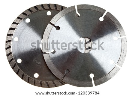 Diamond discs for concrete cutting - stock photo