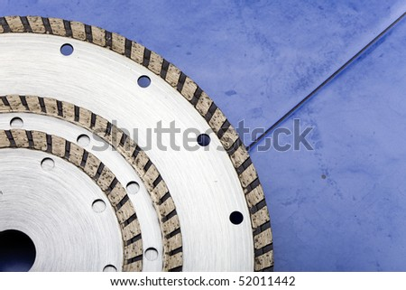 Diamond discs for cutting of tile - stock photo