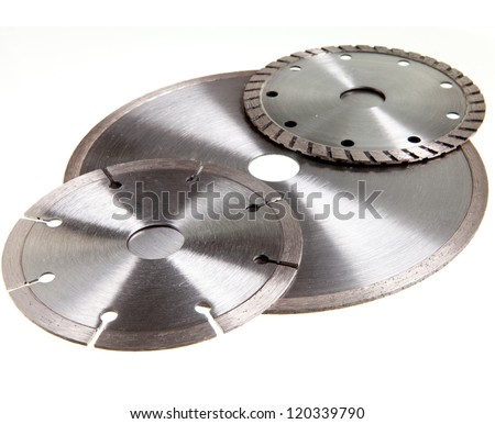 Diamond discs for tile and concrete cutting - stock photo