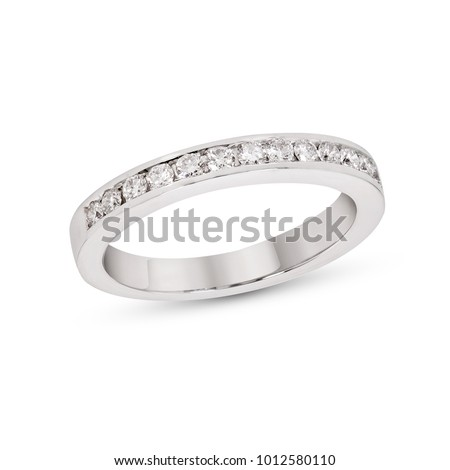 Diamond Eternity Ring Anniversary Band white Gold on white isolate
