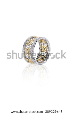 diamond gold wedding engagement band ring