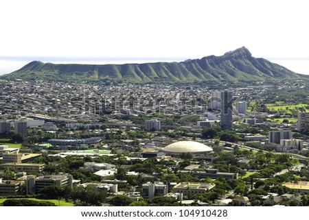 Diamond Head Hawaii - stock photo