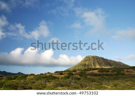Diamond Head volcano, Oahu, Hawaii - stock photo