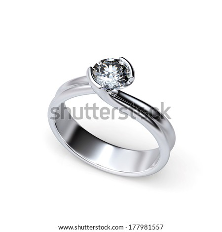 Diamond isolated on a black background