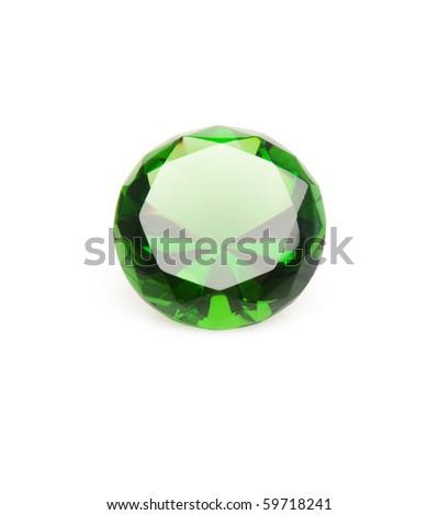 Diamond. Isolated over white - stock photo