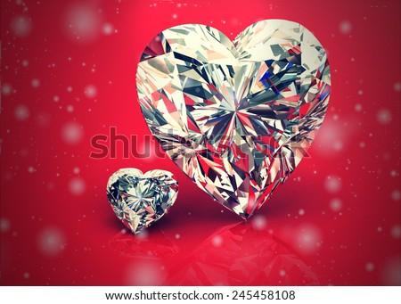 diamond jewel ,High resolution 3D image, Vintage Style - stock photo