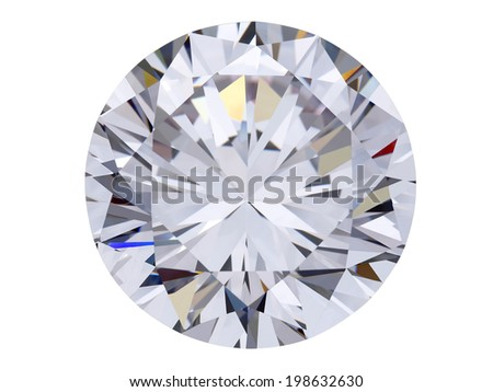 diamond jewel on white background - stock photo