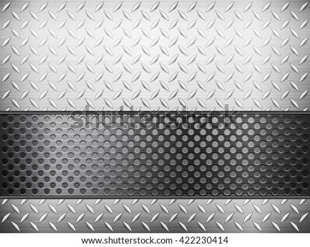 diamond metal background and grid illustration. - stock photo