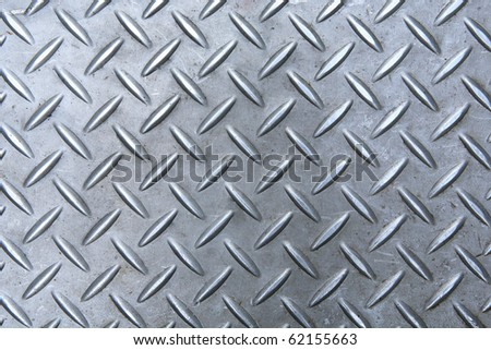 diamond metal plate background - stock photo