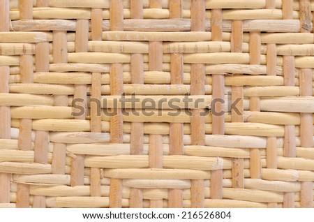 diamond pattern woven rattan - stock photo
