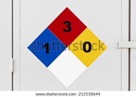 Diamond Placard for hazardous materials. - stock photo