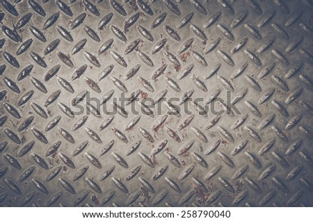 Diamond Plate Background with Retro Instagram Style Filter - stock photo
