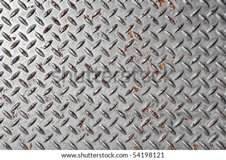 Diamond Plate Silver Background - stock photo