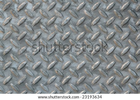 Diamond plate steel.