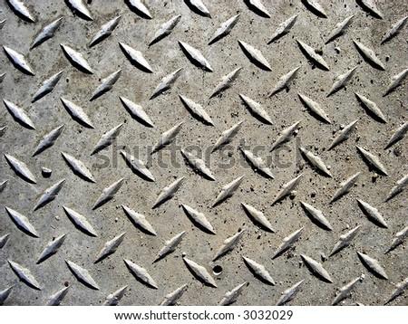 diamond plated background - stock photo