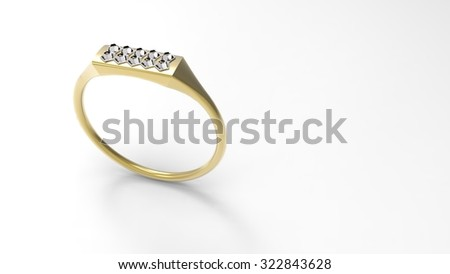 Diamond rectangle ring